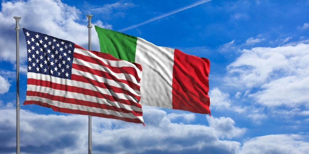 US and Italian Flags