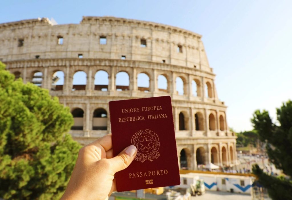 Union Europe Republic Italian Passport