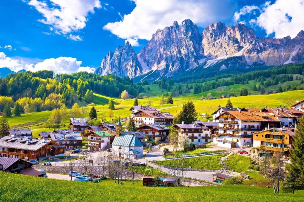 Picturesque view of Cortina d'Ampezzo