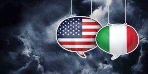 USA and Italiab Flag