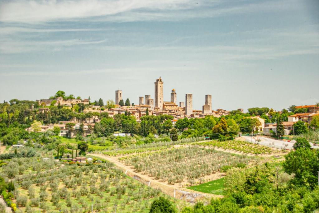 San Gimignano and nature around this Italian UNESCO heritage city,Italy